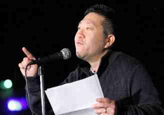 Spoken-word artist Jerry Yukiya Waki.