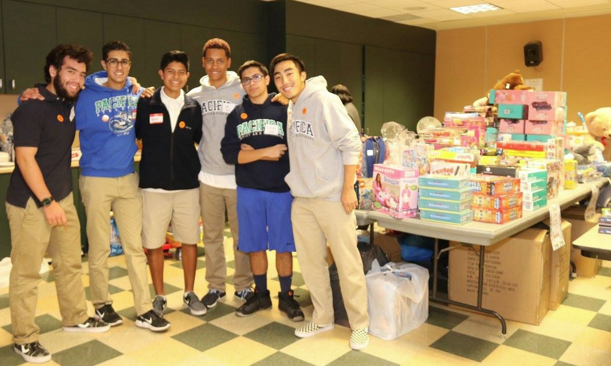 Volunteers sorted out the collected toys.