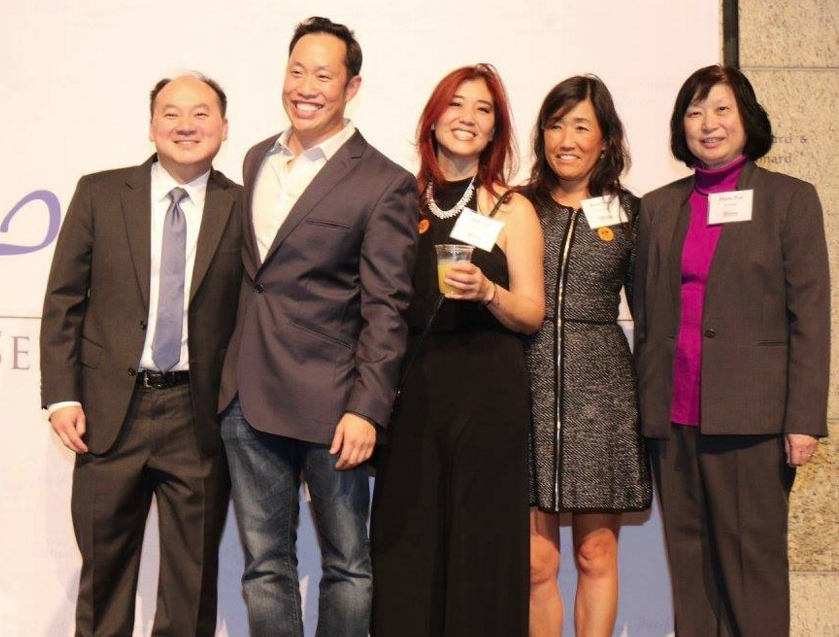 Toy drive co-chairs Ed Lew, Hogan Lee, Amy Lew, Anne Inoue and Diane Tan.
