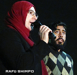 Speakers at the vigil included Duaa Alwan of the Islamic Shura Council of Southern California and Syed Hussaini of the Council on American-Islamic Relations (CAIR).
