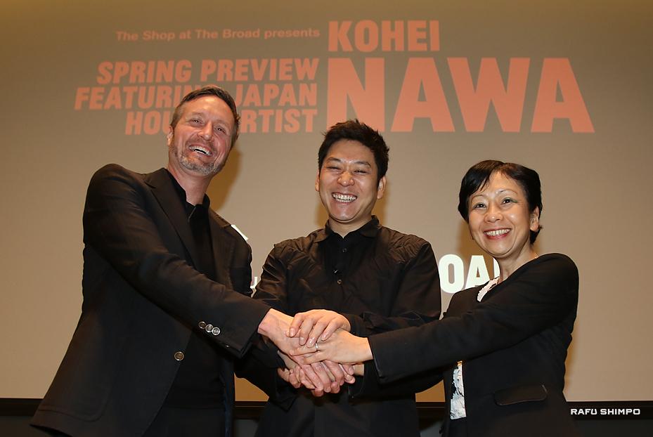 名和晃平さんが講演:独創的な作品を紹介
