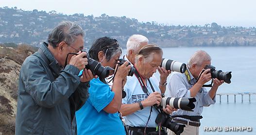 サンディエゴで野外撮影会:今週末の展示で力作を披露