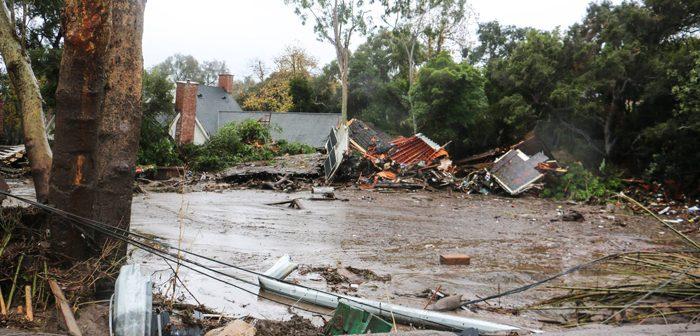 大雨、山火事の被災地直撃:サンタバーバラ郡、土砂崩れで17人死亡