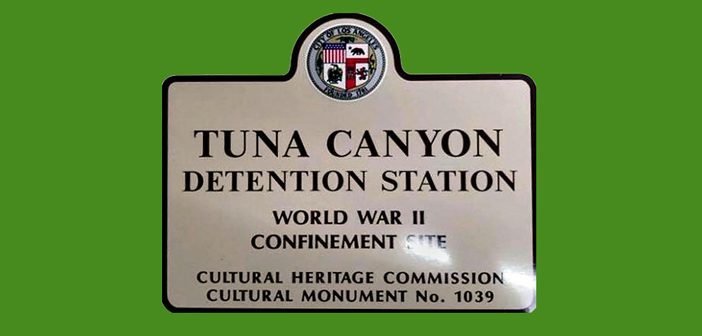 New Street Signs Show Location of Tuna Canyon Camp