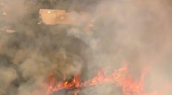 ビバリー・クレスト地区で山火事:出火原因は草刈り機か