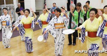 二世週祭の音頭の練習始まる:各社中から指導者30人参加