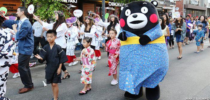 熊本の「くまモン」が初訪米:二世週祭で誘致PR:日系社会にしあわせ振りまく