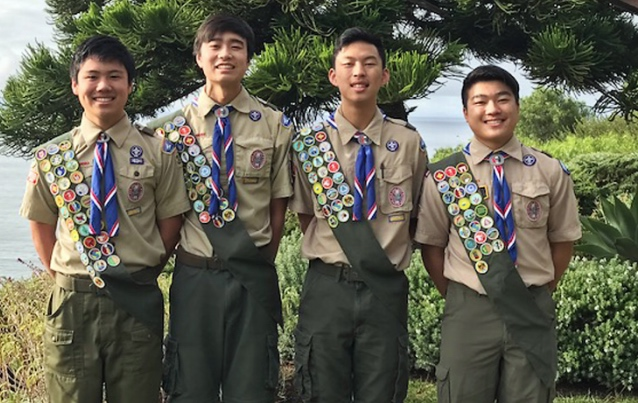Troop 378 Honors Four New Eagles