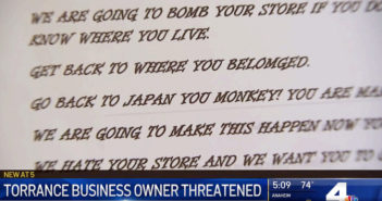Torrance Business Receives Hate Message